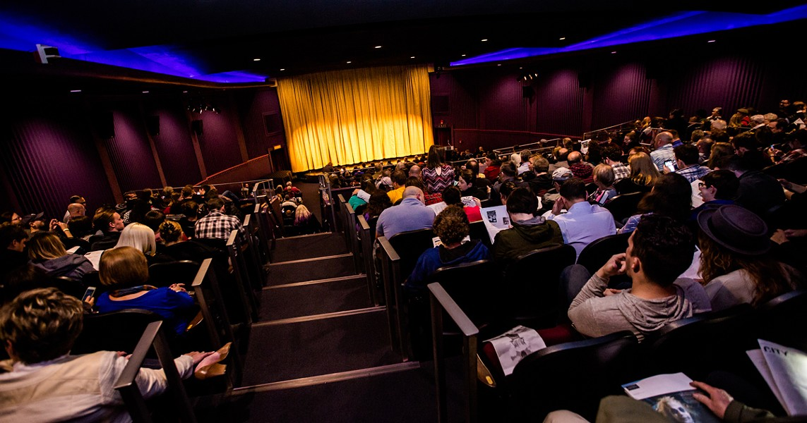 Moviegoers await a screening at The Dryden Theatre. - PHOTO COURTESY OF THE DRYDEN THEATRE