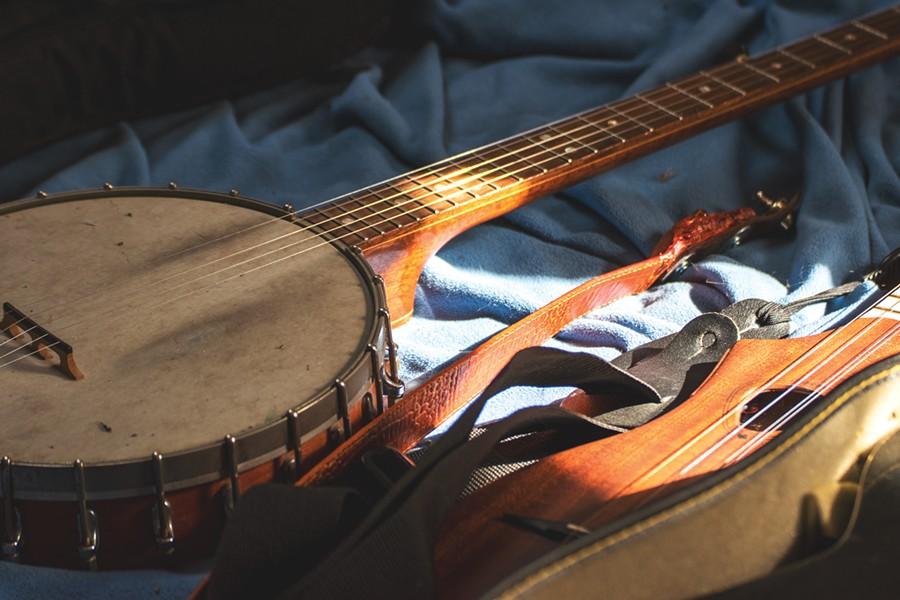 The banjo is a sidearm for Bob Bunce. - PHOTO BY RYAN WILLIAMSON