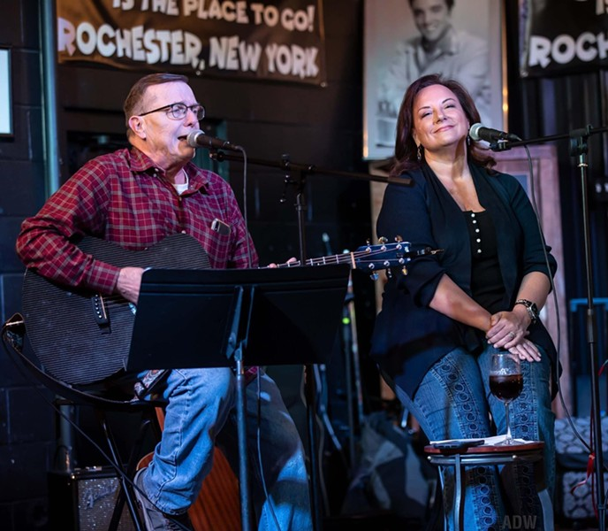 Tim Clark and Amy Collins perform. - PHOTO PROVIDED BY COLLINS AND CLARK