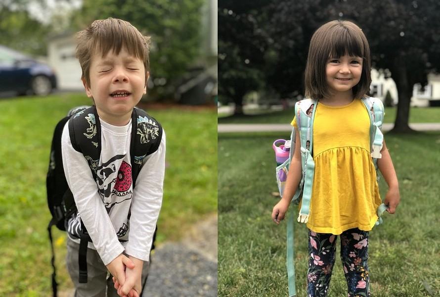 Kurt and Emma attend special education programming as preschoolers at CP Rochester. - PHOTOS PROVIDED BY KRISTINA KNAUF AND ALLISON GREEN