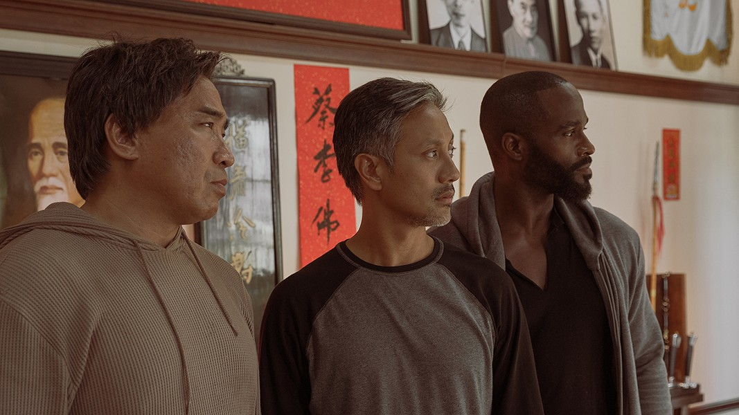 "From left to right: Ron Yuan, Alaim Uy, and Mykel Shannon Jenkins in ""The Paper Tigers."" - STILL PHOTO PROVIDED BY ANOMALY"