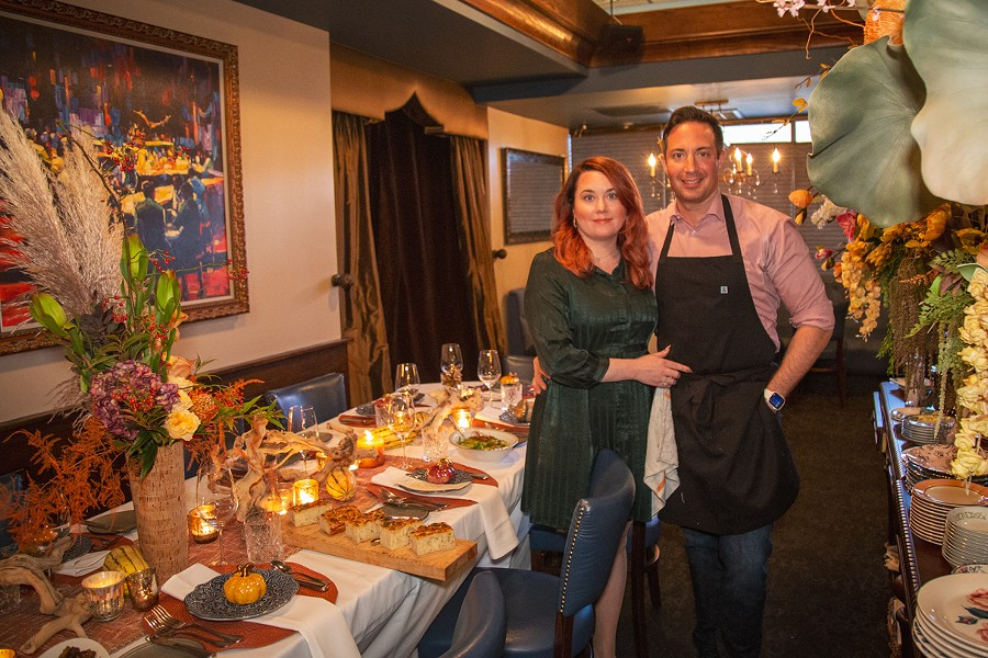 Tim and Janine Caschette's Thanksgiving spread at Avvino is an open-house for the who's who of Rochester's dining scene. - PHOTO BY VINCE PRESS