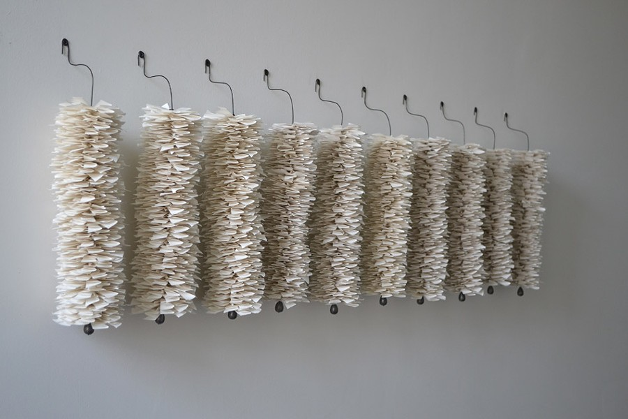 """""""Plomb,"""" a sculpture by Liz Jaff is part of """"Brooklyn Bridge,"""" an exhibition of the work of five New York-based emerging artist currently on view at Rochester Contemporary. - PHOTO PROVIDED"""