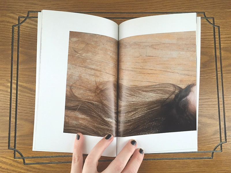 Pages from Morgan's artist books, which include her photography and some text. - PHOTO PROVIDED