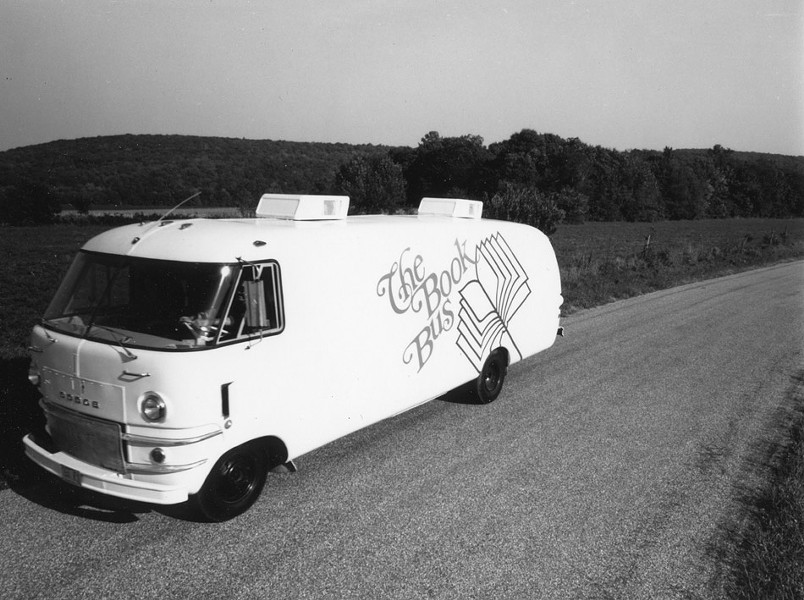 Before Writers & Books was founded in 1980, Flaherty traveled in The Book Bus, promoting and selling books by contemporary authors. - PROVIDED PHOTO