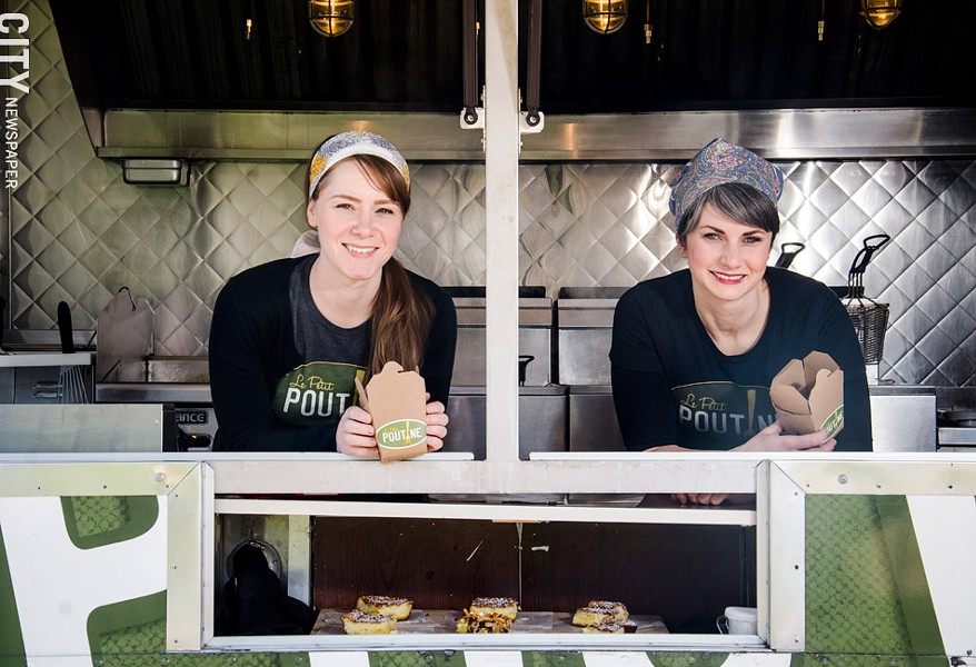 Ronnie McClive and Lizzie Clapp of Le Petit Poutine. - PHOTO BY MARK CHAMBERLIN