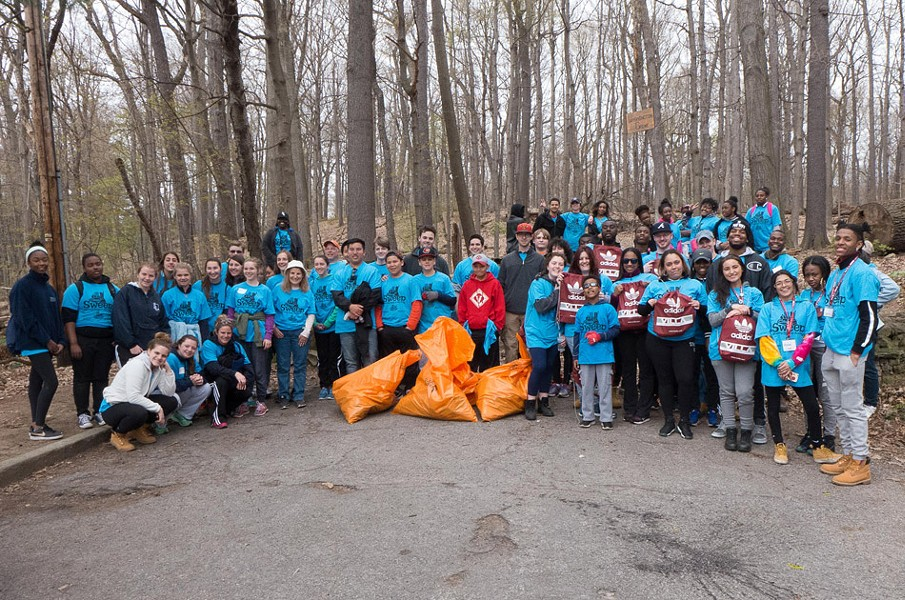 Nearly 80 volunteers helped the Friends of Washington Grove clear the space, located in Cobb's Hill Park, of debris during April's Clean Sweep. - PHOTO PROVIDED