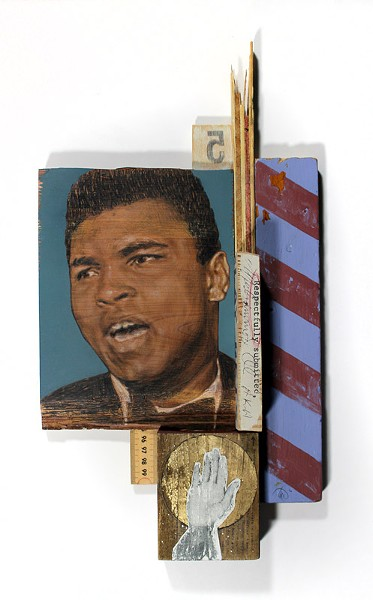 "Todd Stahl's ""A Conscientious Objection"" assemblage is a tribute to Muhammad Ali. - PHOTO PROVIDED"