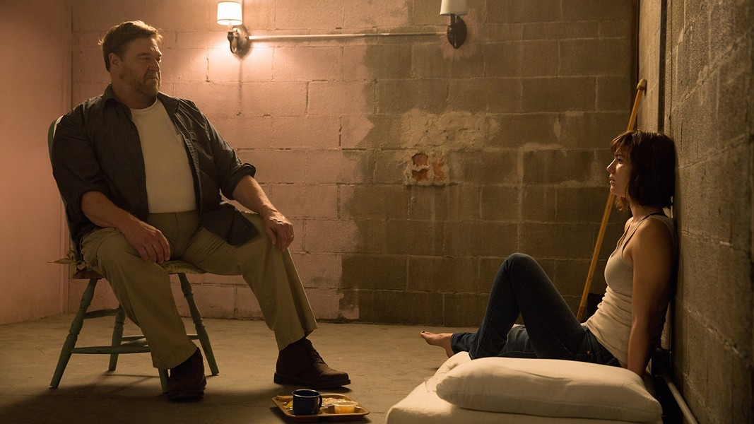 "John Goodman and Mary Elizabeth Winstead in ""10 Cloverfield Lane."" - PHOTO COURTESY PARAMOUNT PICTURES"