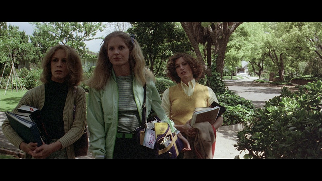 "P.J. Soles with Jamie Lee Curtis and Nancy Kyes in ""Halloween."" - PHOTO COURTESY COMPASS INTERNATIONAL"