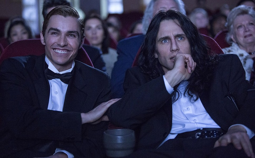 "Dave and James Franco in ""The Disaster Artist."" - PHOTO COURTESY A24"