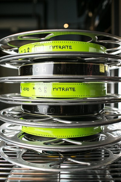 Nitrate film is notoriously combustible, and special precautions are taken when it is screened. - PHOTO PROVIDED