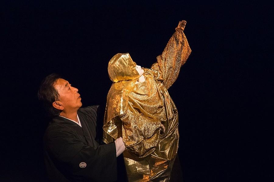 Koryu Nishikawa V, the 5th-generation headmaster of Hachioji Kuruma Ningyo Theatre Company. - PHOTO BY AYUMI SAKAMOTO
