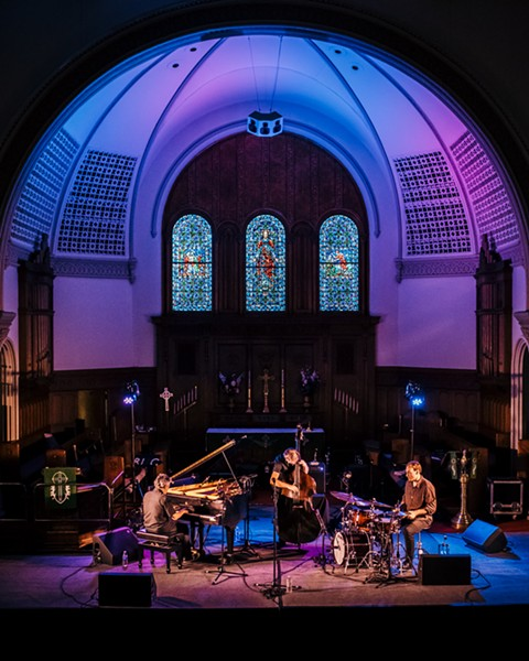 Pilc Moutin Hoenig played the Lutheran Church on Thursday night. - PHOTO BY JOSH SAUNDERS