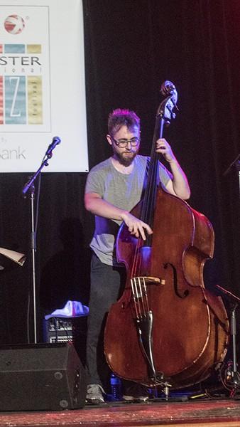 Bassist Mark Lewandowski and his trio played Christ Church on Saturday. - PHOTO BY ASHLEIGH DESKINS