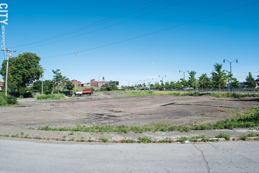 The City of Rochester could turn over a parcel of land on Industrial Street, near West Broad, to a community organization to operate as an encampment site for homeless people. - PHOTO BY JACOB WALSH