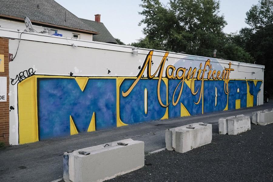 Mural by Joe Blens on Lyell Avenue. - PHOTO BY JASON WILDER