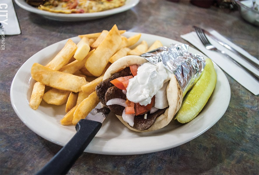 The gyro pita at The Golden Fox. - PHOTO BY JACOB WALSH