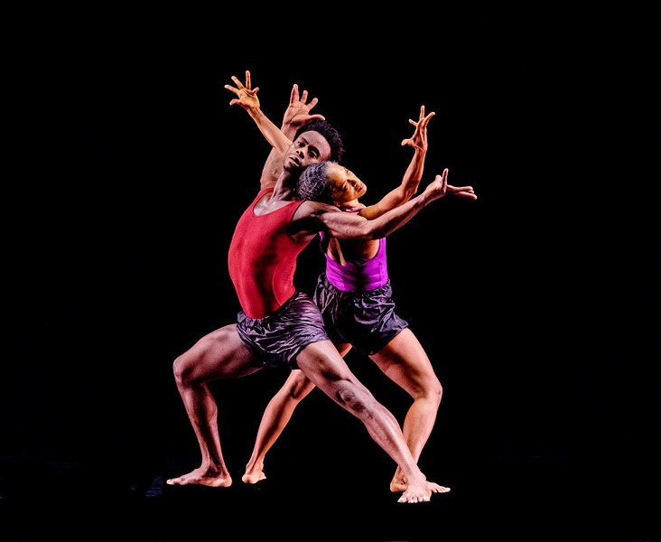 "Natalie Rogers and Vitolio Jeune of Garth Fagan Dance perform ""In Conflict."" - PHOTO BY ERICH CAMPING"