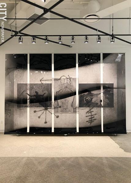 "Willie Osterman's photo installation, ""Emergence."" - PHOTO BY REBECCA RAFFERTY"