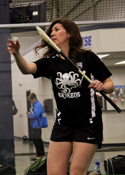"Jessica Frey: Hurling is ""all my cravings for what a sport should be."" - PHOTO BY BRIAN GORDON"