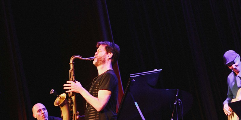 Donny McCaslin played Xerox Auditorium on Saturday night at the XRIJF.