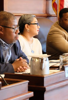 City Council members (from left) Mike Patterson, Jackie Ortiz, and Willie Lightfoot during the June vote authorizing a referendum on the RCSD. Court rulings blocked the referendum.