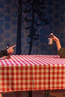 """Nikhaar Kishnani and Marina Shay in Geva's production of """"Queen."""""""
