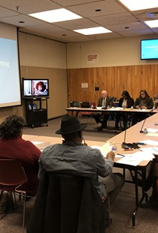 The Rochester School Board Finance Committee on Tuesday night.