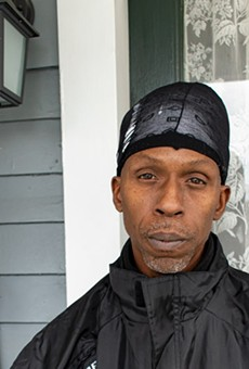 Jody Francis, a City Wide Tenant Union member, said that rent stabilization laws would have helped some of his neighbors in a Meigs Street apartment building.