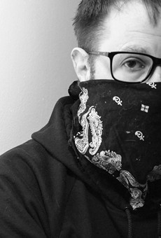 This is me, at home, trying to get used to having part of my face covered up.