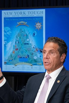 Governor Andrew Cuomo said schools will be able to reopen if the rate of COVID-19 infection in their regions stays below certain thresholds.