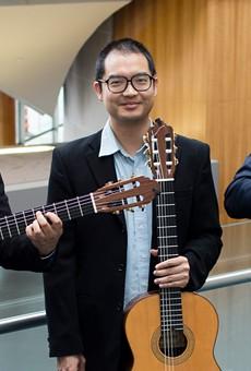 Trio Ghidorah brings classical guitar music to Virtual Little Café's Friday concert