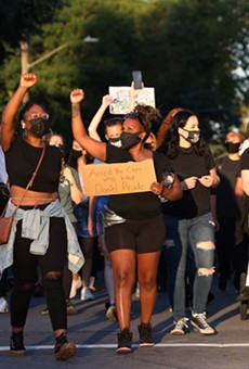 One of many Black Lives Matter marches that took place in the Rochester area during the course of the pandemic
