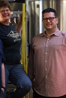 Benn Fee Spacher (left) and Jon Spacher (right) are the new fifth generation owners of Fee Brothers, taking over from Ellen Fee (center).