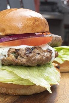 Crumbled feta cheese mixed into the patties really makes these lamb burgers pop.