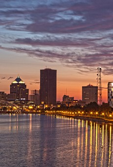 The Rochester skyline at dawn.
