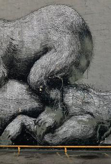 Rochester's infamous 'Sleeping Bears' mural vandalized (2)