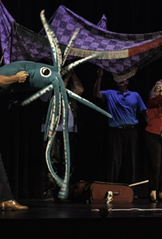 The cast members of Unleashed! Improv present their version of the Rochester Fringe Festival's Italian circus tent at a performance on Sept. 15, 2021.