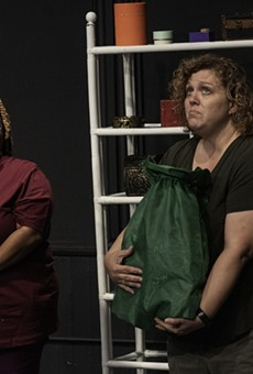 """Kenya Malcolm and Stephanie Siuda perform in the US premiere of """"Belonging(s)"""" at the MuCCC on Sept. 18, 2021, as part of the KeyBank Rochester Fringe Festival."""
