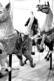 The Dentzel carousel's animals are original to it.