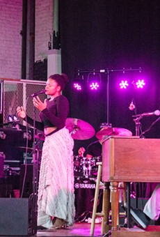 Lizz Wright and her band played Harro East Ballroom Monday night.