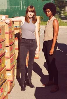Pleistocene's Katie Preston (left) and Cammy Enaharo.