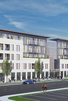 Morgan/Christa propose a mixed-unit development with 117 housing units: studios, and one- and two-bedroom units. Also: 26,000 square feet of retail-office space and underground parking. Christa also plans to move into the city.