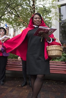 "Mayor Lovely Warren performed in ""Grimms' Mad Tales"" during the 2016 Rochester Fringe Festival."