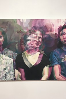 """No Pasaran!"" Michael Hubbard's 2012 painting featuring the members of Pussy Riot."