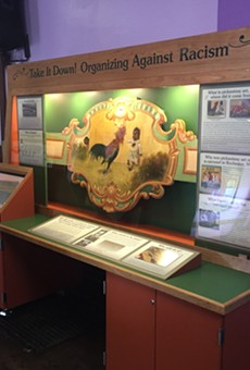 The exhibit featuring the former carousel panel is on display at the Central Church of Christ on South Plymouth Avenue until mid-May.