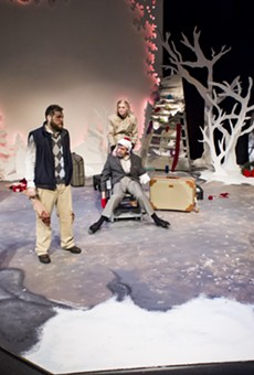 """A scene from """"The Flight Before Christmas,"""" part of Blackfriars' 2016-17 season. Kerry Young, one of the play's writers and actors, will direct a show in the company's 2017-18 season"""