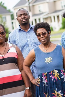 From left: PLEX members Barbara Ashford, Patricia Neal, Kevin Lester, Dorothy Hall, and Dorian Hall are concerned about gentrification.
