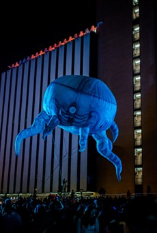 """Plasticiens Volants staged its show """"Big Bang"""" at Parcel 5 during Friday and Saturday on the Fringe."""